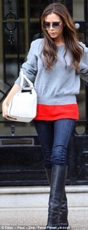 Sleek in jeans: Victoria Beckham