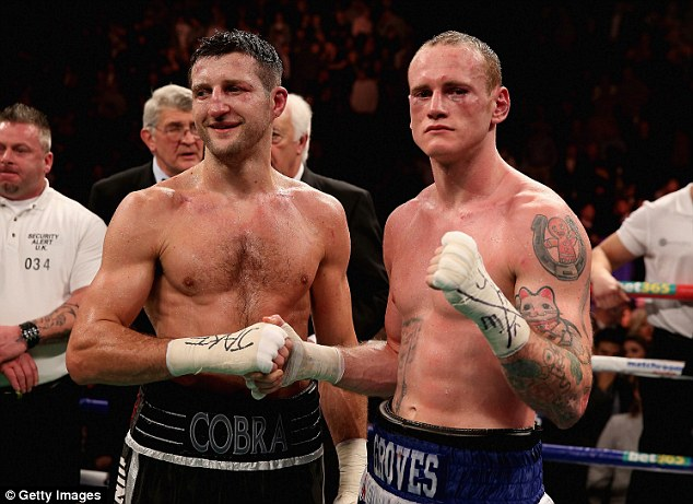 Best of enemies: Carl Froch (left) and George Groves (right) pictured after their controversial November bout