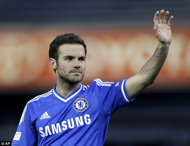 Waving goodbye: Juan Mata will join Manchester United, subject to agreeing terms and passing a medical