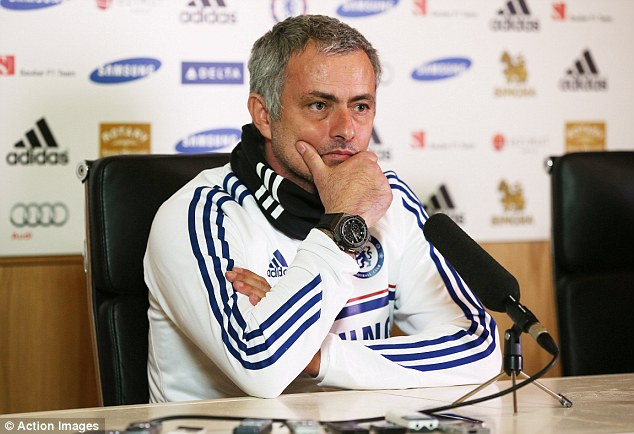 Serious: Jose Mourinho said that the club 'cared about people', that's why Juan Mata was allowed to leave