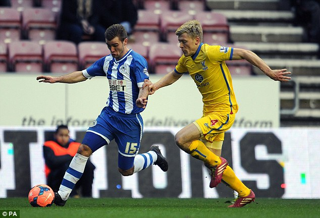 Collision: Parr was left needing lengthy treatment after a collision with Callum McManaman