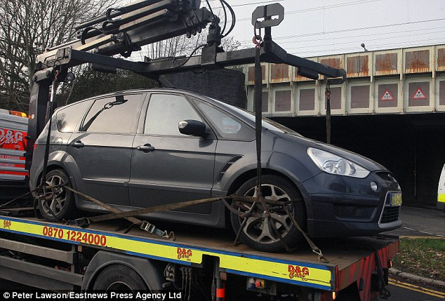 Vehicle: Mr Clark's Ford S-Max was towed from the scene