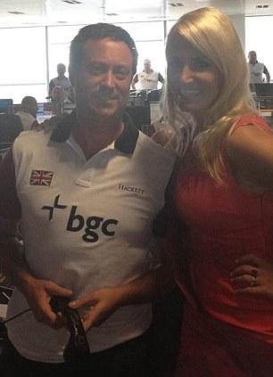 Celebrity: Mr Clark poses with model Nancy Sorrell