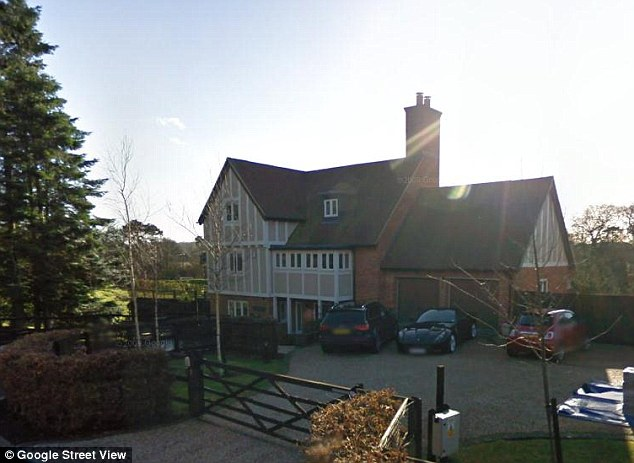 Former home: Mr Clark had lived in this £2.2million house in the village of Stock, Essex