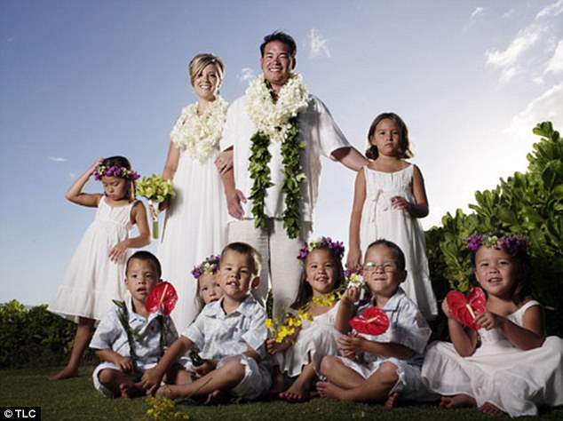 Reality stars: The family became famous on TLC's Jon & Kate Plus 8 but Jon is now furious with Kate Gosselin (to his left)