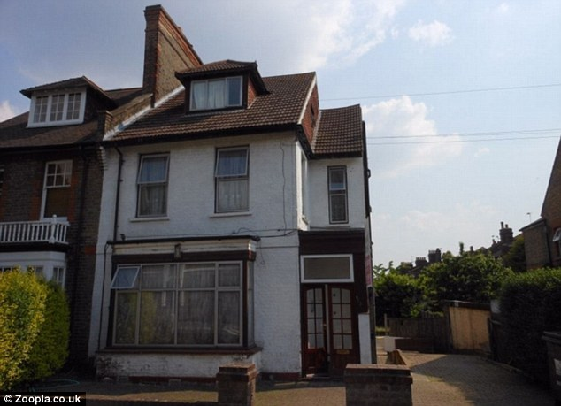A studio flat in this converted property in Grove Road, London, E17, was on the market for £74,995