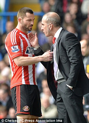 Friend or foe? Phil Bardsley blasted his former manager after his departure