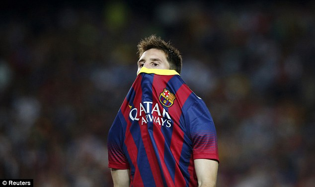 Vow: Messi has been promised by the new Barcelona president he will be the world's best paid footballer