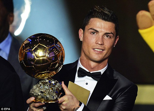 Emotional win: Cristiano Ronaldo beat Messi to the Ballon d'Or this time around