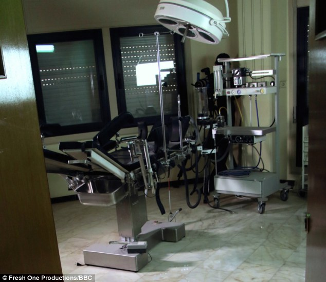 Degrading: This is the fully-fitted gynecological suite where young girls would be placed in one of the two beds and checked for STDs before they were sent in to the waiting dictator