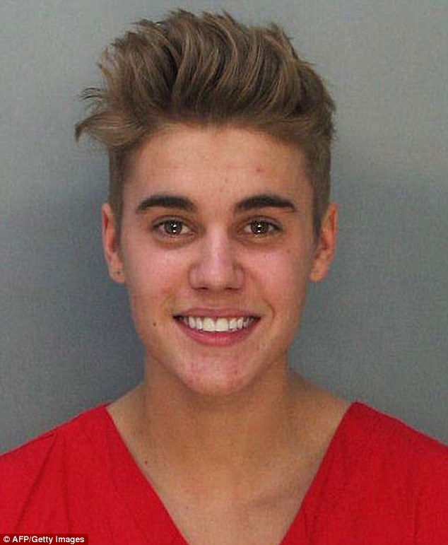 Legal drama: The Miami-Dade Police Department released Justin's mugshot when he was booked on January 23 in Miami