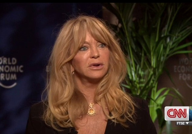 Visibly concerned: Goldie Hawn told CNN that Justin's recent troubles are 'heartbreaking'