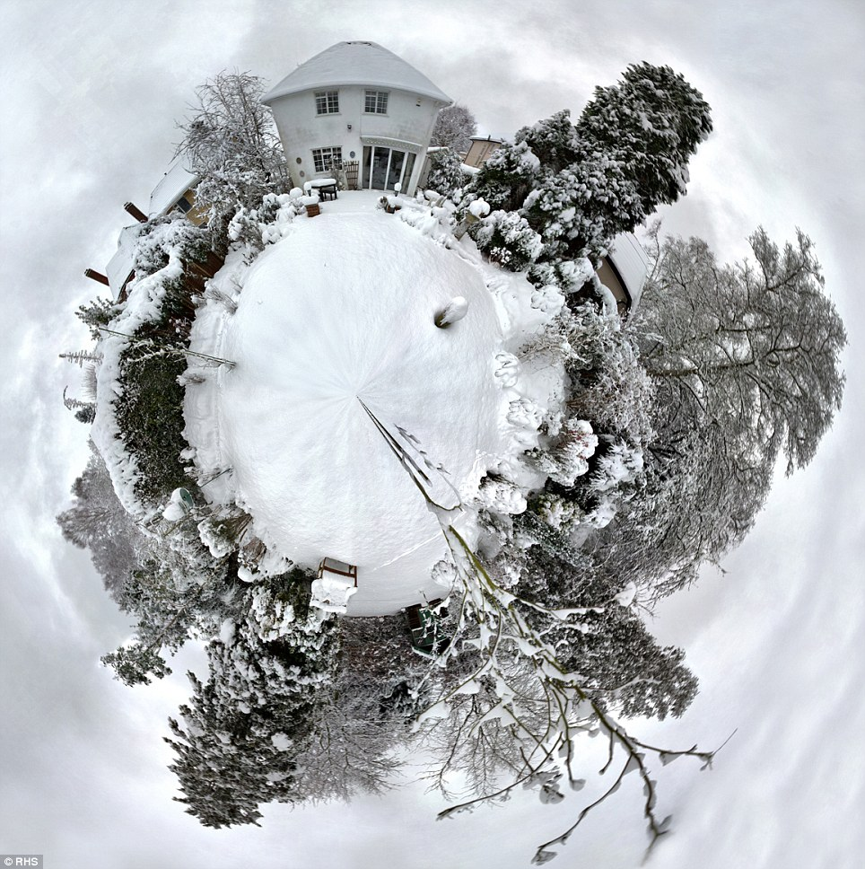 Snow-covered: Photographers were inspired by the onset of severe weather conditions this year, as commended entries included this snow-covered panorama