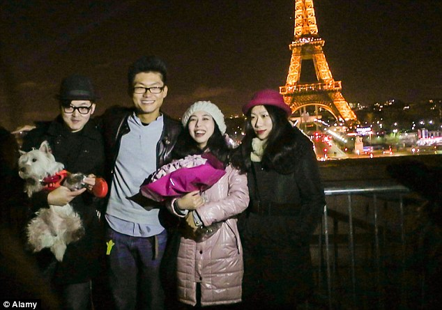 Bonjour: The Chinese find it easier to visit France rather than the UK