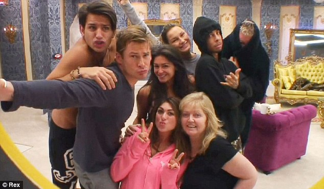 What a group: The housemates all posed for a selfie at one point