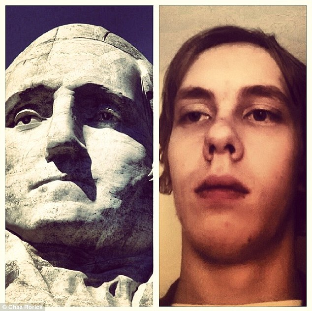 Stone-faced: George Washington would be proud of this impression