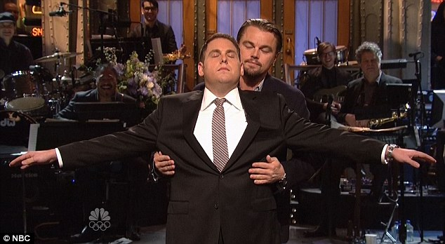 They've made up: Leo then makes Jonah his Rose, as they recreate that famous Titanic moment