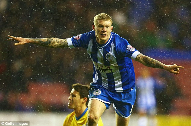 Still going strong: James McClean's winner for Wigan against Crystal Palace has set up a fifth round tie against Premier League Cardiff