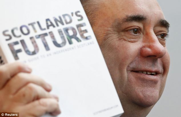 Scottish First Minister Mr Salmond has previously claimed that his country could keep the pound, with the Bank of England continuing to represent Scots and make key decisions on issues like interest rates.