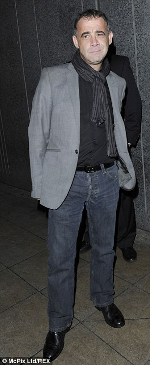 The many faces: Michael Le Vell was seen posing outside the Coronation Street Christmas party in December