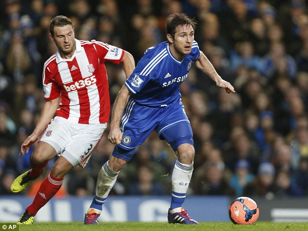 In the bag: Frank Lampard, the Chelsea captain, said they should have had the match won by the interval