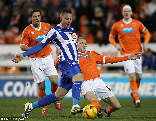 Goal machine: Wickham has scored eight goals in 11 league appearances for Sheffield Wednesday
