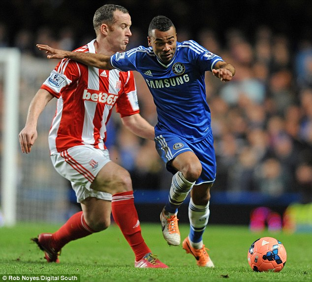 Don't get used to it! Ashley Cole (right), going past Charlie Adam, commented on his lack of game time