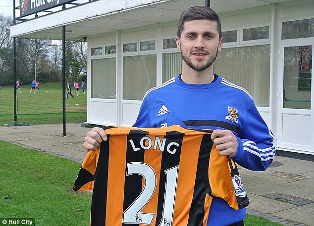 All set: Shane Long is ready to make his Hull City debut after moving from West Brom this month