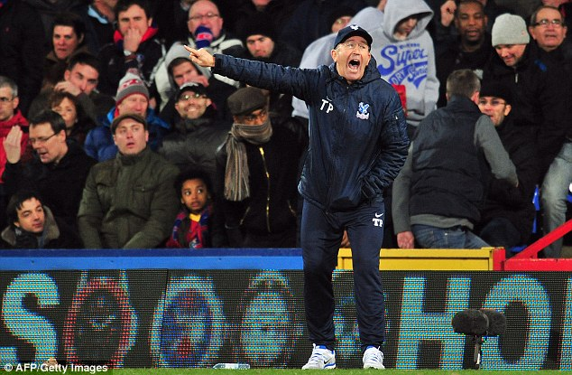Keep going: Pulis is desperate to regain momentum in the push for survival in the Premier League