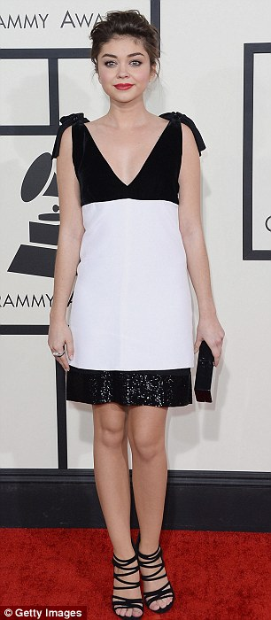 The short style stick: Starlets (L-R) Sarah Hyland and Ariana Grande also missed the mark in short dresses, which would have passed muster hand it been a more casual event