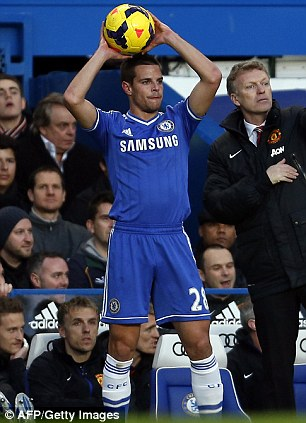Third-choice: Cesar Azpilicueta (left) and Ashley Cole (right) are ahead of Bertrand in the pecking order