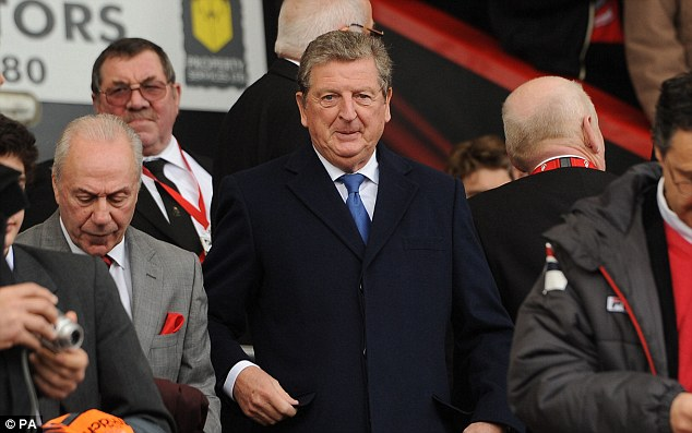 Out to impress: Hodgson (centre) is blessed with a number of options at left back