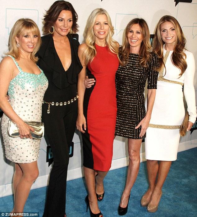 Her girls: Mrs Singer (far left) with her Bravo co-stars in 2012