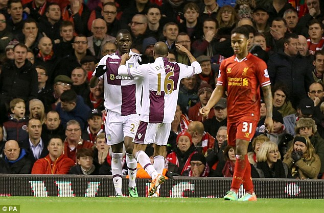 Battering ram: Christian Benteke caused problems for the Liverpool back line