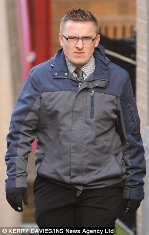 Inappropriate: Office manager Jack Howell, 36, (pictured) said he was 'mortified' when his boss asked if he had AIDS