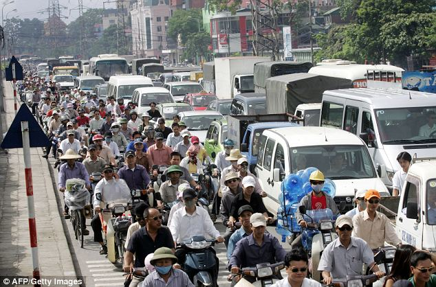 Hanoi rush hour: Templeton Frontier Markets fund invests in the 30 or so developing markets deemed to be one step below the emerging markets