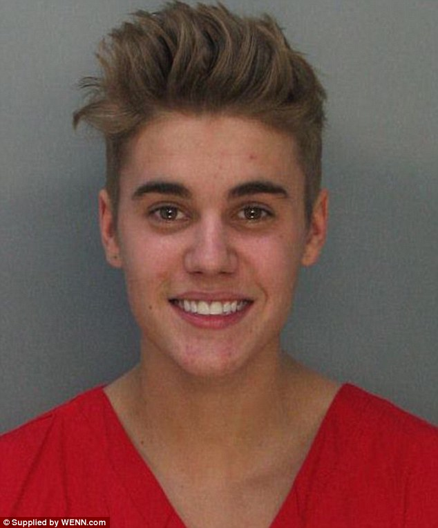 In trouble: It was not even a week ago when the Baby singer had his mug shot taken and was released on $2,500 bail