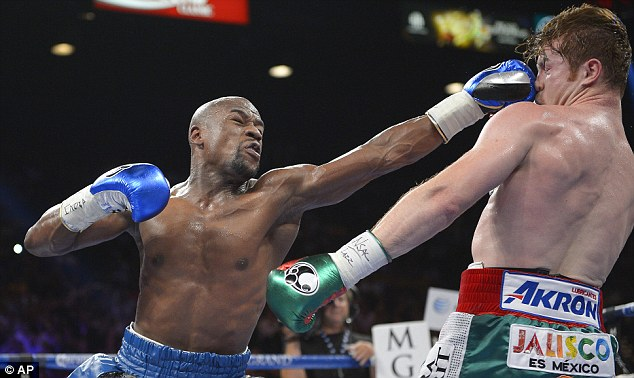 One sided: Floyd Mayweather (left) eased to victory over Saul Alvarez, despite the Mexican's talent