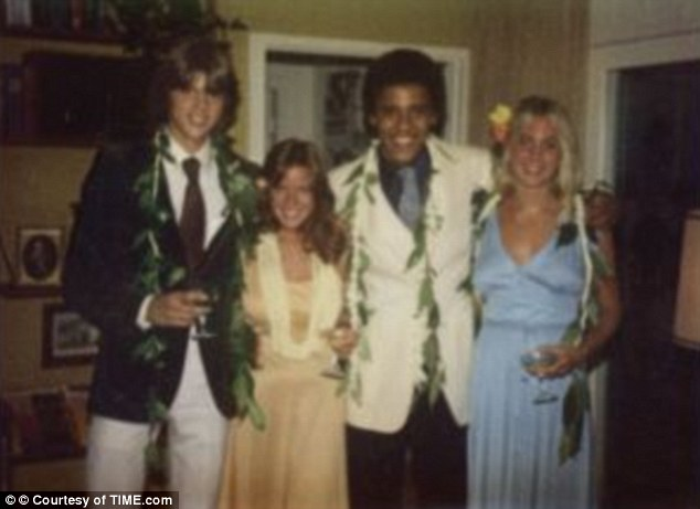Experiments: Obama, 18, who was only just beginning to explore his black roots ¿ having been brought up by his white grandparents ¿ was a leading member of a group called the Choom Gang