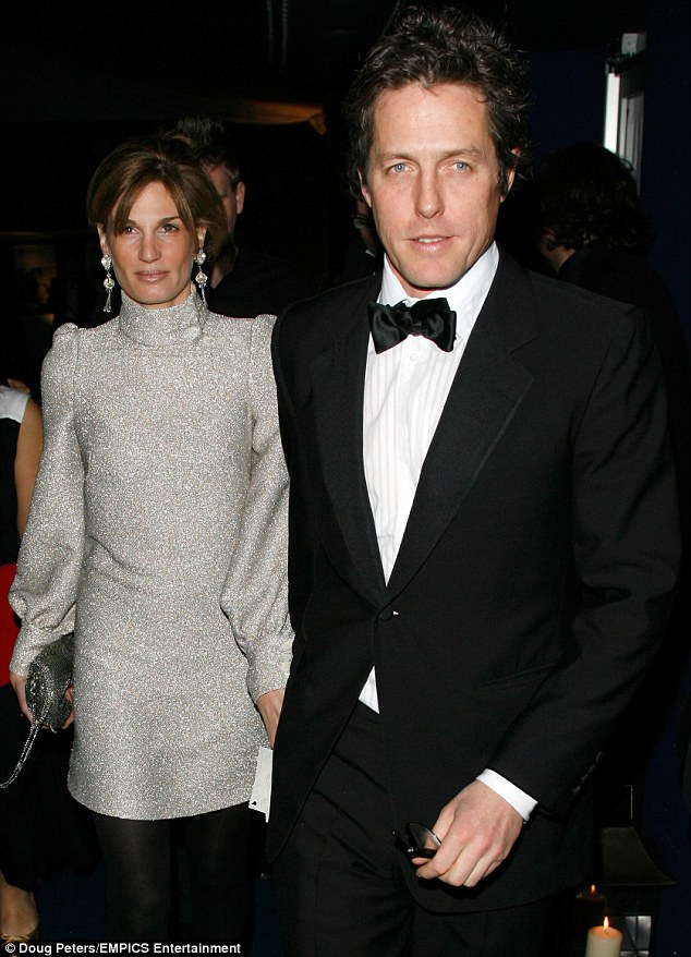 Hugh Grant previously dated divorced heiress Jemima Khan for three years,  from 2004 to 2007
