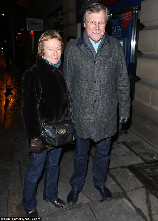 A Night For The Theatre: David Neilson and wife Jane came to support Julie Hesmondhalgh in her new role