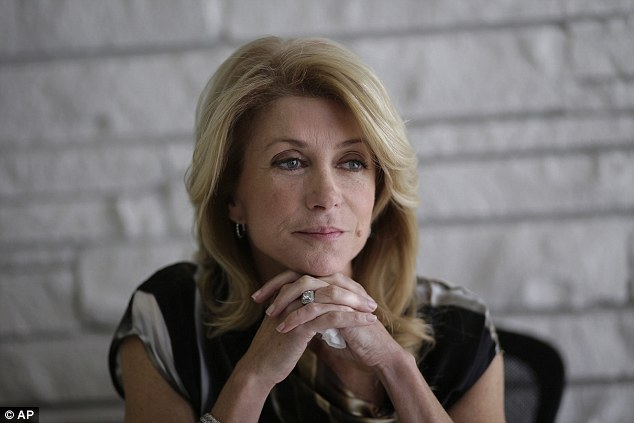 Democratic candidate for Texas governor Wendy Davis is behind in the race with 34 per cent of voters as oppose to Abbott's 40 per cent