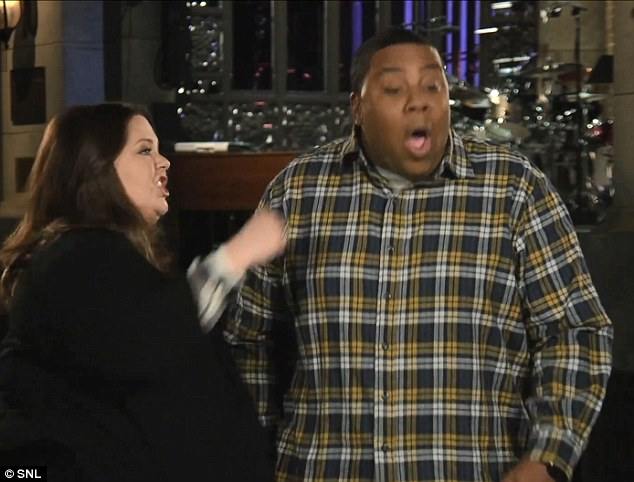 Whack! Kenan didn't see the punch coming after he insulted the star's previous two SNL experiences