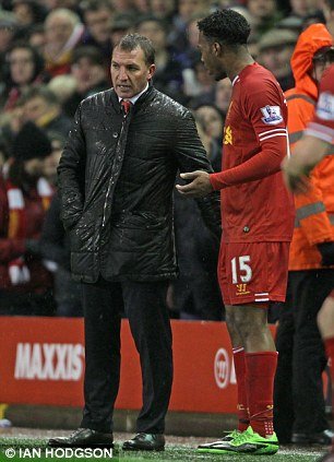 Daniel Sturridge later apologised for his actions after appearing to snub Brendan Rodgers' handshake