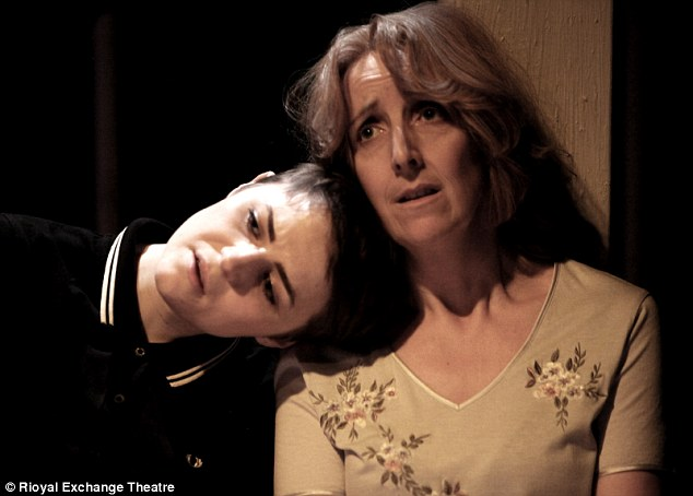 Julie with co-star Katie West in Blindsided currently on at the Royal Exchange Theatre in Manchester