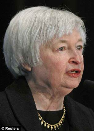Change at the top:  Janet Yellen, left, will replace Ben Bernanke, right, as Fed boss next month
