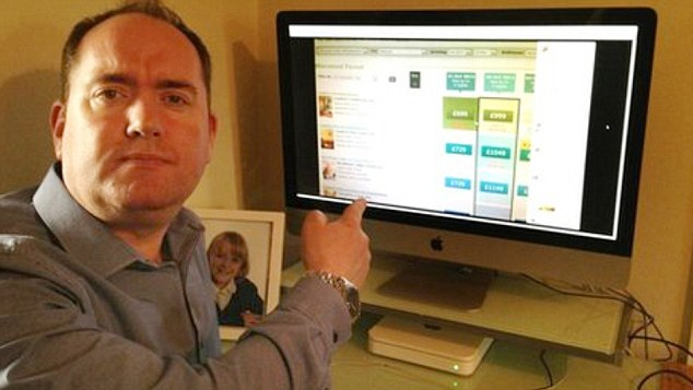 Father-of-one Paul Cookson, 41, wrote an online tirade about price hikes during school holidays - it went viral