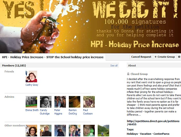 The sales director from the South Hams in Devon set up a Facebook group called Holiday Price Increase for those who felt the same way as he does - it now has more than 12,000 members
