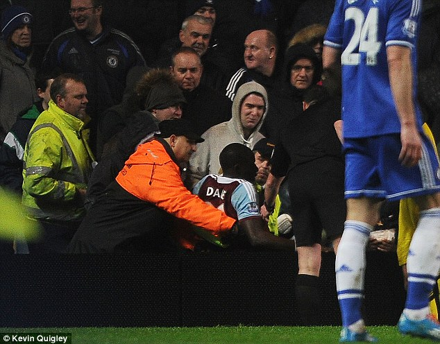 Friendly: The West Ham player even got a helping hand from Petr Cech