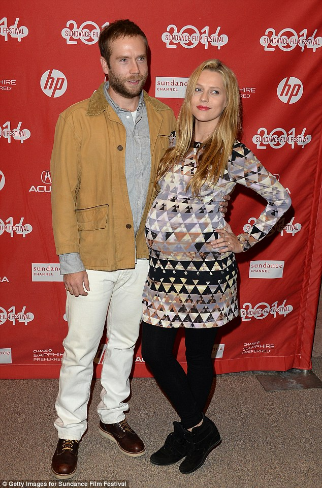 Newly weds! Mark and Teresa, who are expecting their first child together, pose at the Sundance Film Festival, where Mark's film Laggies debuted